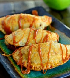 "<p><em><strong>Caramel Apple Empanadas</strong> </em></p> <p>Get the recipe <strong><a href=""http://www.momontimeout.com/2013/09/caramel-apple-empanadas/"">here</a></strong></p>"
