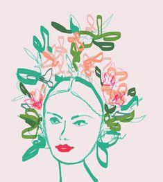 #fashion Flowerhead - Artwork by Heather Williams
