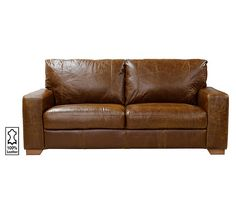 Buy Heart of House Eton Large Leather Sofa - Tan at Argos.co.uk, visit Argos.co.uk to shop online for Sofas, Sofas, armchairs and chairs, Home and garden