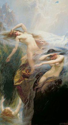 The Mountain Mists, Herbet James Draper, 1912