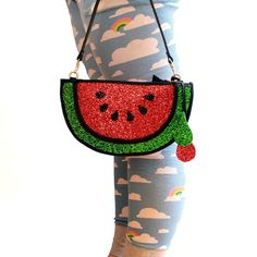 Hey, I found this really awesome Etsy listing at https://www.etsy.com/listing/188731673/glitter-watermelon-fruit-clutch-handbag