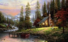 download free log cabin background