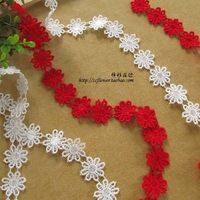 5 Yard/lot Water soluble lace fabric flower embroidery lace trim decoration bride hair wedding dress,clothing diy accessories