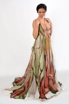Pintadas vestido vestido de bola vestido de fiesta largo