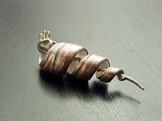Silver-Copper Mokume-gane Amulet on Etsy, $1,419.24