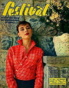Festival, France, March 1955 Audrey Hepburn ICG