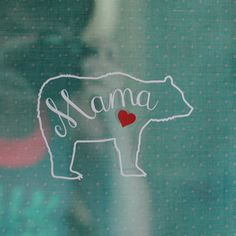 "If. BIG IF.  If I ever get a tattoo, small white bear and ""mama"" with 3 blood red hearts"