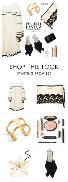 """Magic Slippers: Embellished Shoes"" by sans-moderation ❤ liked on Polyvore featuring Chloé, Dorothy Perkins and Tory Burch"