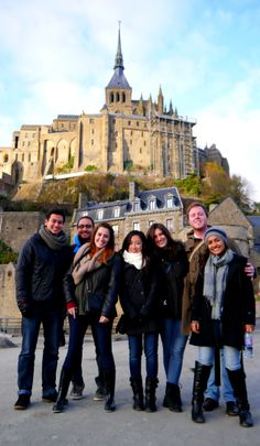 Our MGB students at Mont Saint Michel. Photo taken by one of our MGB students, J.C (MGB '14)