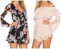 The Rosa Floral Short Dress & Mia Romper by Taylor-Ashley.com