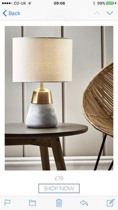 Crafted from concrete and iron with a natural cotton shade, our petite teardrop shaped table lamp is perfect for your bedside or occasional table. The concrete finish gives a nod to the Scandi trend, while the brass top add warmth. Table Lamps Uk, Ceramic Table Lamps, Concrete Finishes, Modern Glass, Lounge, Ceramics, Contemporary, Lighting, Metal