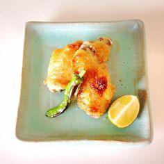 鶏手羽の塩焼き salt-grilled chicken wing #simple #delicious #washoku #和食 #料理 #Japanese #food #cooking #懐石 #kaiseki #chicken #October #autumn #2015 #instagood #instafood by chez_takako