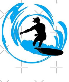 Wave Surfer Dude, this surfer design features a surfer dude silhouette in black and blue. A great surfing design for all those that love to surf. Surfer Dude, Silhouette Png, Airbrush, Silhouettes, Balls, Stencils, Wave, Tropical, Graphics