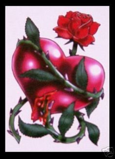 Bleeding Heart Flower Tattoo | Tattoos Fonts Ideas Designs Pictures Images Heart Tattoo Photos