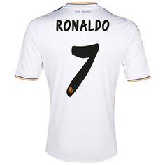 df3e91699 Adidas Real Madrid  RONALDO 7  Home  13- 14 Replica Soccer Jersey (White  Lead Orange)