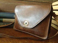 Vintage England Chestnut Brown Leather Camera by JansVintageStuff