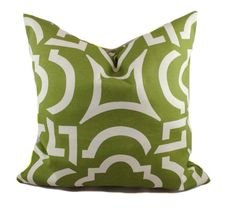 Kiwi green outdoor pillow cover 18x18 Modern by PillowCorner
