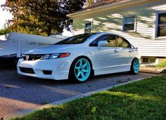 white civic tiffany blue wheels | Varrstoen | Custom Performance Wheels and Accessories » Mr. Alex SI ...