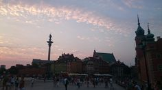 Old Town at sunset, Warsaw