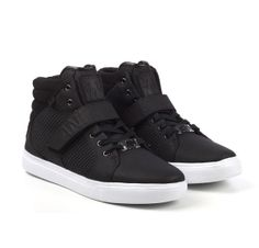 AH DESIGNER MID-BLACK WHITE High Tops, High Top Sneakers, Men's Fashion, Footwear, Black And White, Inspiration, Shoes, Collection, Design