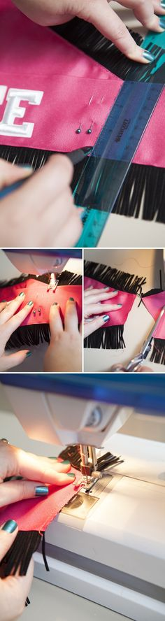 #DIYwedding ~ How to easily make your own 'bachelorette or bride' sash!! Click through for all the instructions!!! #diy #bachelorette #bride