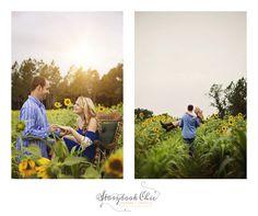 sweet sunflower engagement photo shoot