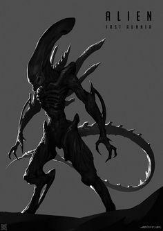 Alien——Fast Runner, mist XG on ArtStation at https://www.artstation.com/artwork/3Bd0E