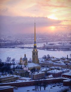 The Peter and Paul Cathedral, St. Petersburg, Russia. But probably not in winter.