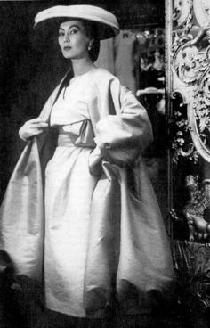 1955 - Alla wearing Christian Dior