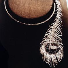 """Boucheron Emerald and Diamond 'Peacock Feather' Necklace"