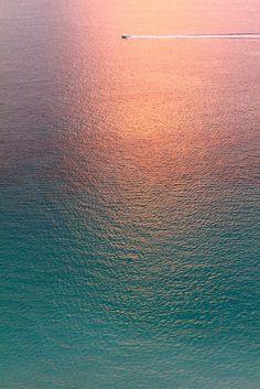 "♂ pink sunset reflect on blue water ""Still Water"" by Anastasia Novak"