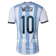 735da5e71 Top A+++ 2014 World Cup Argentina Home Messi KUN AGUERO soccer jersey Grade  Original thai quality football jersey soccer shirt-in Sports Je.