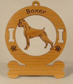 1950 Boxer Standing Uncropped Personalized Wood by gclasergraphics