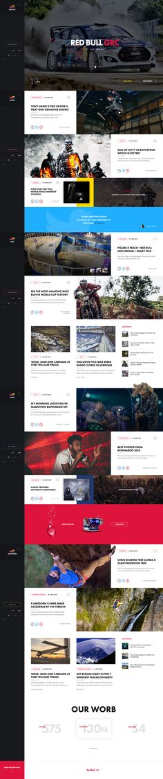 Ui re-design concept for RedBull's landing page would look like in my eyes, by Nick Ano.