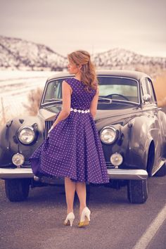 Cute dress and great car