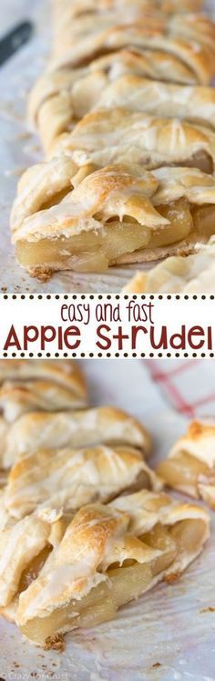 This easy and fast Apple Strudel recipe is so good! It makes the perfect breakfast or dessert!