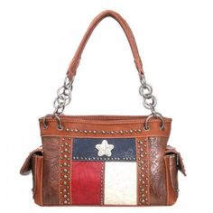 Conceal and Carry, Texas Pride ,  Montana West Purse, western purse store Brown #MontanaWest #ShoulderBag