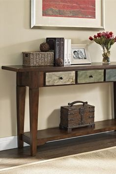 Sage Rustic Three-Drawer Console Table by Doral Furniture on @HauteLook