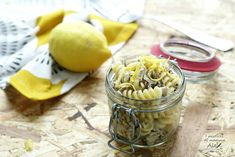 Pasta con sgombro e limone