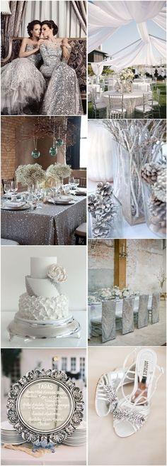 Gallery: silver winter wedding color ideas - Deer Pearl Flowers