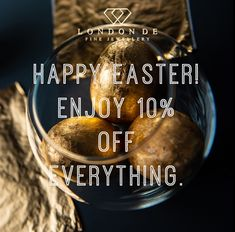 Happy Easter! Treat yourself with 10% off our entire range. #SpringGift #SpringGifts #Spring2021 #EasterGift #EasterGifts #Spring #SpringJewels #SpringJewellery #LondonDE #bespokeservice #diamonds #colouredgemstones #ethicallysourced #sustainablysourced #ethicaljewellery #sustainablejewellery #bespokejewellery #giftspiration #HattonGardenJewellery #HattonGardenJewellers #EasterSale #easter #eastermonday Easter Gift, Happy Easter, Easter Monday, Hatton Garden, Easter Sale, Bespoke Jewellery, Spring Sale, Diamonds, Range