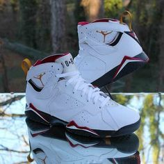 5e9400e1e94 Nike Air Jordan 7 VII Retro 2011 Cardinal 304774-104 White Men's Size 13 # Jordan #BasketballShoes