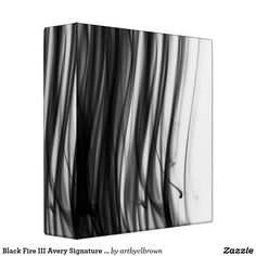 """The Black Fire III Avery Signature Binder designed by Artist C.L. Brown features fire photography converted to black and white. You've spent time crafting interesting reports, so why not display them in an eye-catching artist-designed binder to match? Showcase your business proposals and reports, important articles and coursework, favorite recipes, and more. Designed for letter (8.5"""" x 11"""") sized paper, this binder fits 540 pages with 1 Touch™ EZD™ Rings. Dimensions: 10""""l x 11.75""""w; Spine…"""