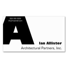 Letter A Gill font business card #typographybusinesscard, #designerbusinesscard, #typedesign, #boldfont