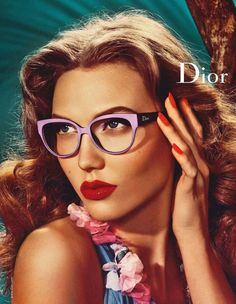 A through back to the pin up girl, these Dior ads shot by Steven Meisel are delightful! Steven Meisel, Karlie Kloss, Glamour, Christian Dior, Color Changing Lipstick, Lunette Style, John Galliano, Vintage Dior, Vintage Beauty