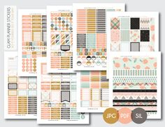 Free Monthly Printable Planner Stickers                                                                                                                                                                                 More