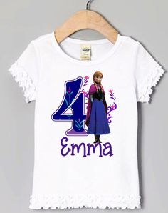 Frozen Anna Birthday Shirt  Personalized by AimToPleaseCreations, $13.28