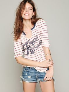 Free People We The Free Stripe Star Graphic Tee, $78.00