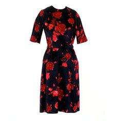 1960s Harvey Berin Floral Print Cocktail Dress