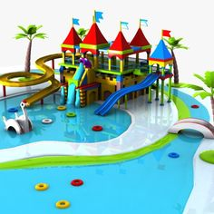 Cartoon Waterpark Model available on Turbo Squid, the world's leading provider of digital models for visualization, films, television, and games. School Projects, Art Projects, Piscina Playground, 3d Cartoon, 3ds Max, Book Art, Places To Visit, Journey, Park